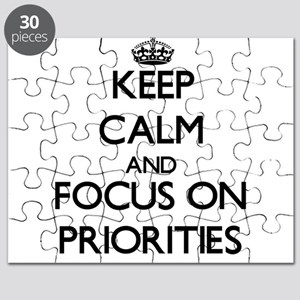 Keep Calm and focus on Priorities Puzzle