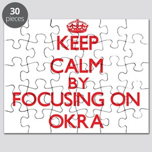 Keep Calm by focusing on Okra Puzzle
