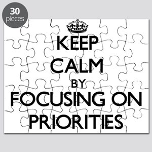 Keep Calm by focusing on Priorities Puzzle
