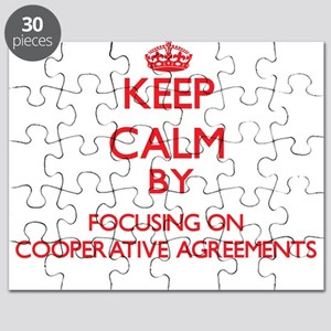 Keep Calm by focusing on Cooperative Agreem Puzzle