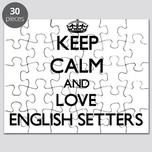 Keep calm and love English Setters Puzzle