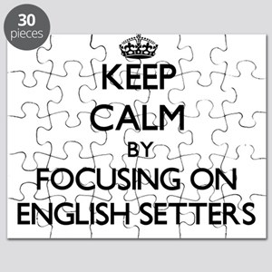 Keep calm by focusing on English Setters Puzzle