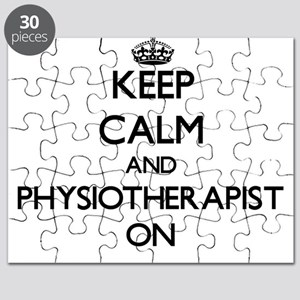 Keep Calm and Physiotherapist ON Puzzle