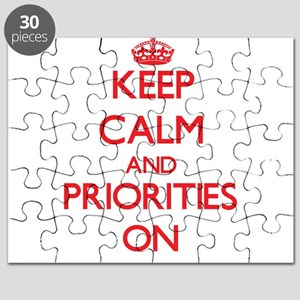 Keep Calm and Priorities ON Puzzle