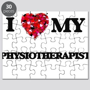I love my Physiotherapist hearts design Puzzle