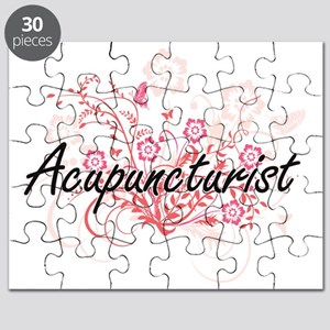 Acupuncturist Artistic Job Design with Flow Puzzle