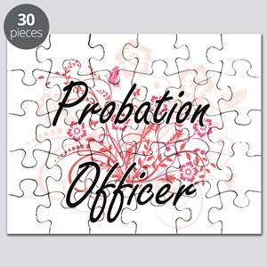 Probation Officer Artistic Job Design with Puzzle