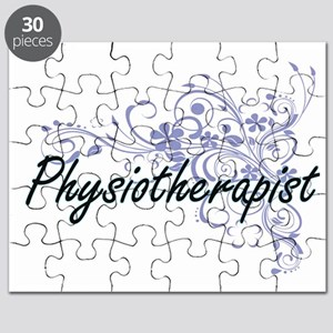 Physiotherapist Artistic Job Design with Fl Puzzle