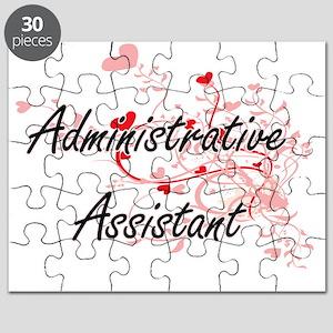 Administrative Assistant Artistic Job Desig Puzzle