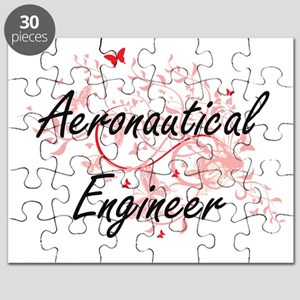 Aeronautical Engineer Artistic Job Design w Puzzle