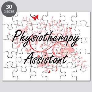 Physiotherapy Assistant Artistic Job Design Puzzle