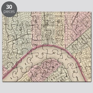 Vintage Map of New Orleans (1880) Puzzle