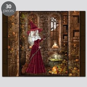 Witch with Candle Puzzle