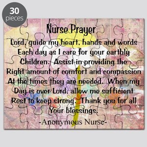 Nurse prayer blanket PINK Puzzle