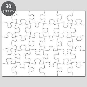 Mathematics equations on white Puzzle