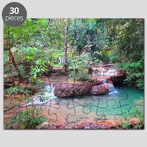 Erawan Falls - Erawan National Park - Kanch Puzzle