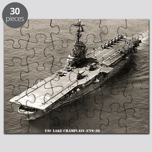 uss lake champlain cvs framed panel print Puzzle