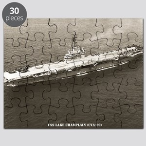 uss lake champlain cva framed panel print Puzzle