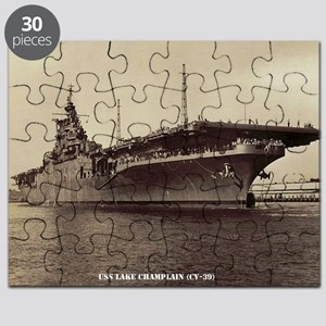uss lake champlain cv framed panel print Puzzle