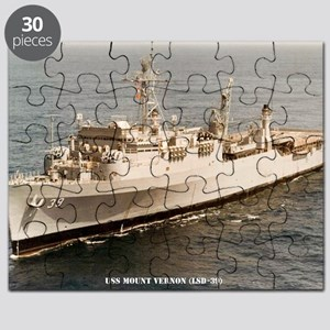 uss mount vernon framed panel print Puzzle