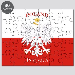 Poland Polska White Eagle Flag Puzzle