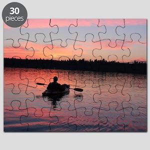 Kayaking at Sunset Puzzle