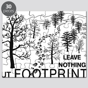 Leave Nothing but Footprints BLK Puzzle
