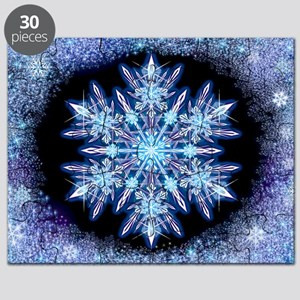 October Snowflake - wide Puzzle