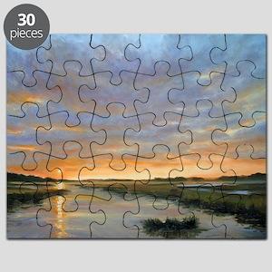 Chincoteague Marsh Sunrise Puzzle