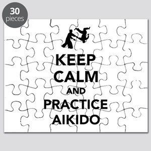 Keep calm and practice Aikido Puzzle