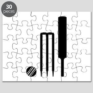 Cricket ball bat stumps Puzzle