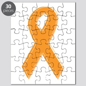 Orange Aware Ribbon Puzzle