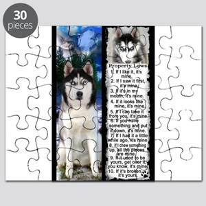 Siberian Husky Dog Laws Rules Puzzle