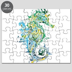 Paisley Seahorse Puzzle
