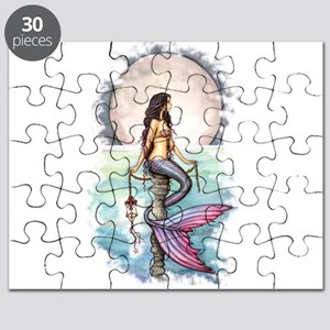 Enchanted Sea Mermaid Art by Molly Harrison Puzzle