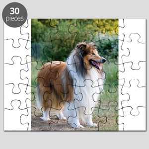 rough collie full 5 Puzzle