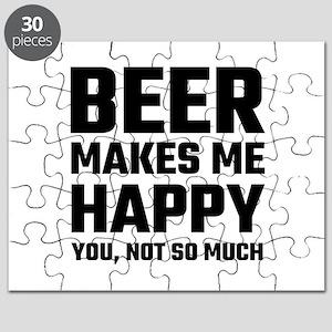 Beer Makes Me Happy Puzzle