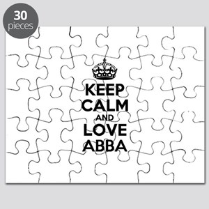Keep Calm and Love ABBA Puzzle
