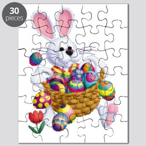 Easter Bunny With Basket Of Eggs Puzzle