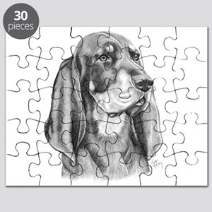 Black and Tan Coon Hound Puzzle