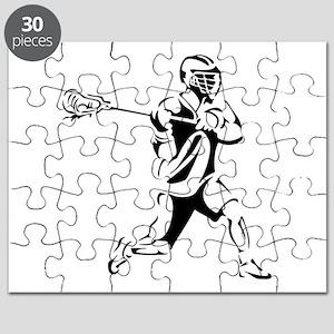 Lacrosse Player Action Puzzle