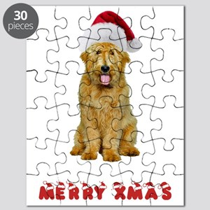 Goldendoodle Christmas Puzzle