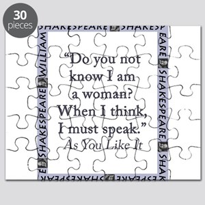 Do You Not Know I Am a Woman Puzzle