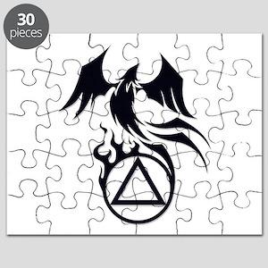 A.A. Logo Phoenix B&W - Puzzle