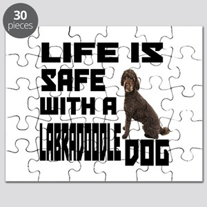 Life Is Safe With A Labradoodle Puzzle