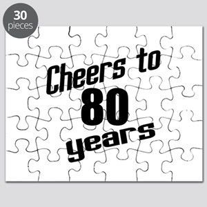 Cheers To 80 Years Puzzle