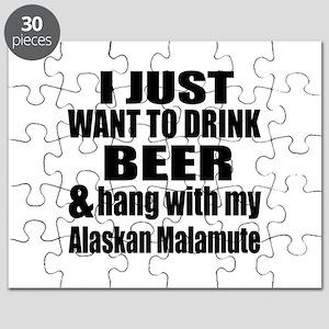 Hang With My Alaskan Malamute Puzzle
