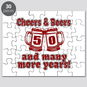 Cheers And Beers 50 And Many More Years Puzzle