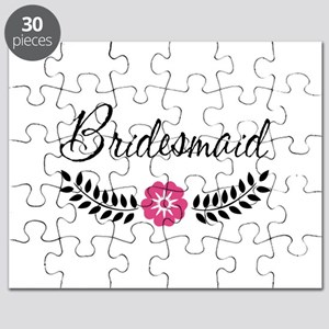 Cute Pink Flower Bridesmaid Puzzle
