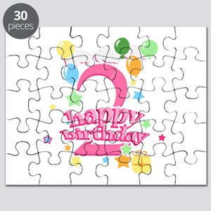 2nd Birthday with Balloons - Pink Puzzle
